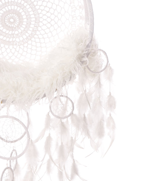 Dream Catcher with white background - Beautiful Digital backdrop Newborn Photography Prop download - psd with Layers
