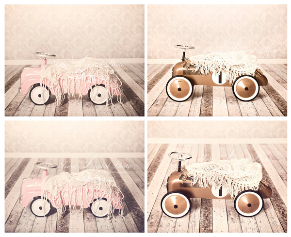 Package deal, Toy Car for Girl and Boy - Beautiful Digital Backdrop Newborn Photography Props Download, Four files included