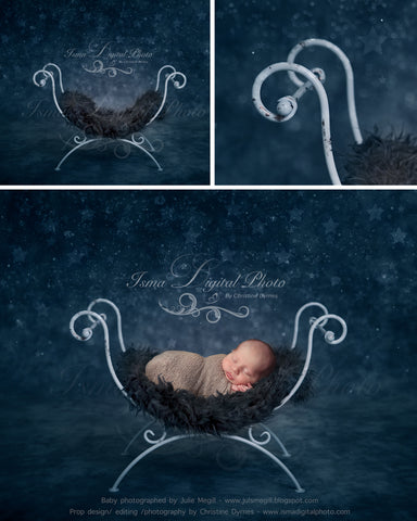Iron bed chair - Digital backdrop /background - psd with layers