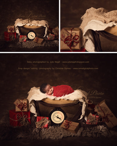 Christmas weight - Digital backdrop /background - psd with layers