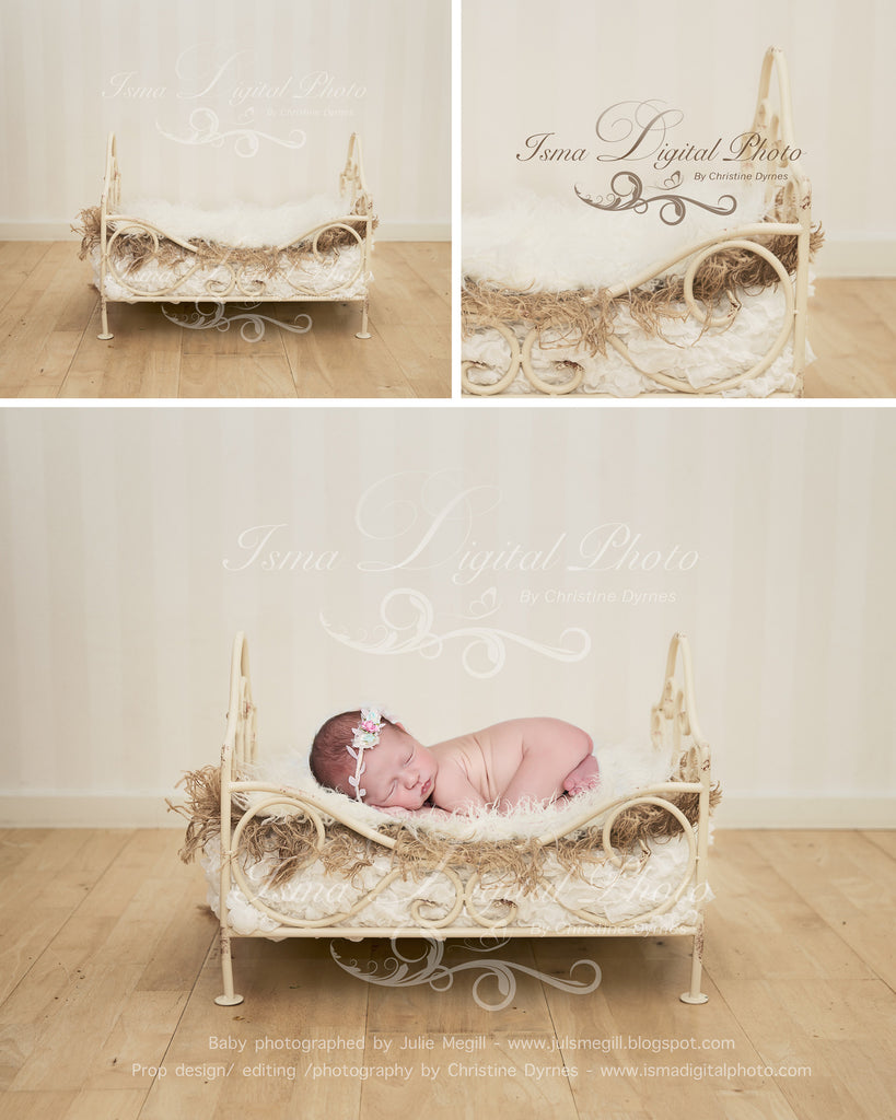 Iron Bed 2 - Digital photography backdrop /props for newborn photography - psd with layers