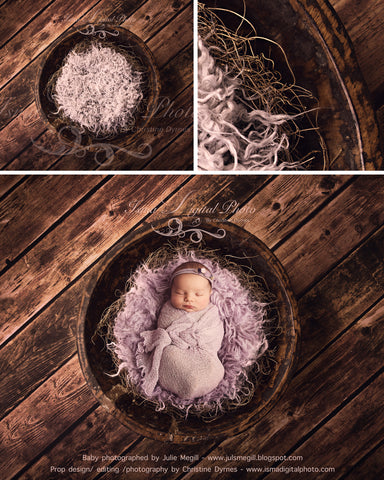 Handmade Wooden Bowl With Wooden Background 3 - Beautiful Digital Newborn Photography Props download  - psd with Layers