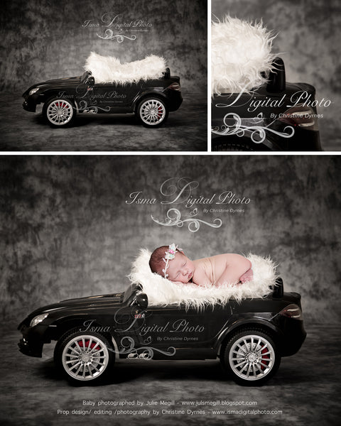 Newborn car - Digital backdrop /background - psd with layers