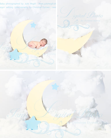 Moon 2 - Beautiful Digital background Newborn Photography Prop download