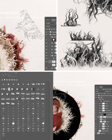 Free photoshop fur brushes for newborn editing