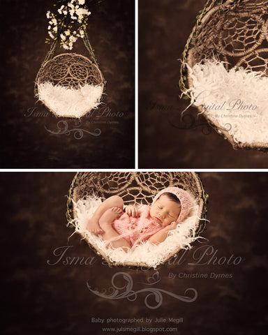 Hanging Twine Circles Bowl With Dark Background - Beautiful Digital background backdrop download