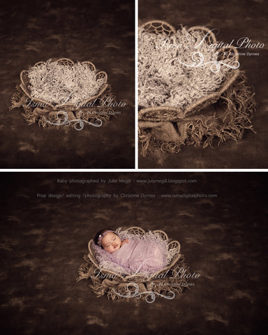 Twine Circles Bowl With Dark Background 3 - Beautiful Digital background backdrop Newborn Photography Prop download