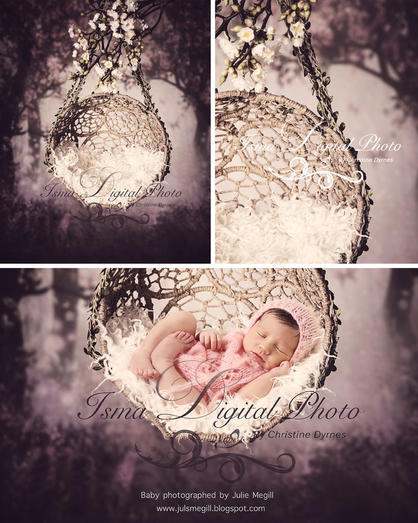 Hanging Twine Circles Bowl With Wooden Background - Beautiful Digital background backdrop download