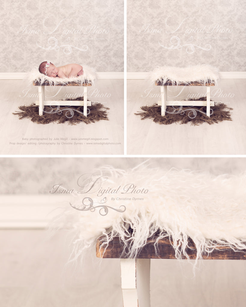 Beautiful stool - Newborn digital backdrop /background - psd with layers