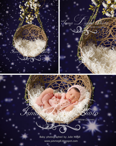 Hanging Twine Circles Bowl With Star Background - Beautiful Digital background backdrop download