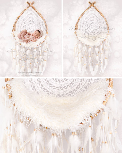 Wooden dreamcatcher - Digital backdrop /background - psd with layers
