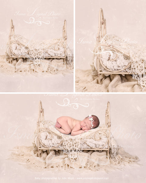 Iron Bed - Beautiful Digital background backdrops Newborn Photography Props download - Psd file with layers and texture