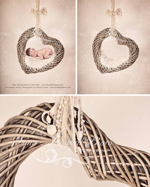 Heart With Light Background And Texture - Beautiful Digital background Newborn Photography Props download