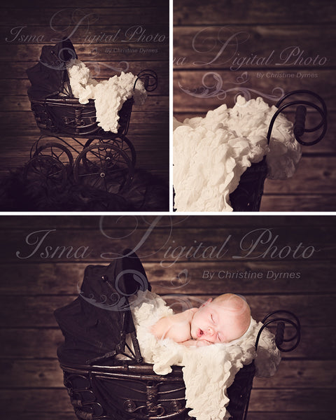 Antique baby carriage - Digital backdrop /background