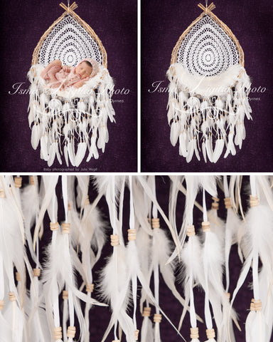 Wooden Dream Catcher With Purple Background - Beautiful Digital backdrop Newborn Photography Prop download - psd with Layers