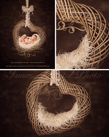 Heart With Dark Background - Beautiful Digital background Newborn Photography Props download