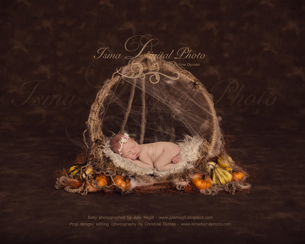 Halloween circle design - Newborn digital backdrop /background - psd with layers