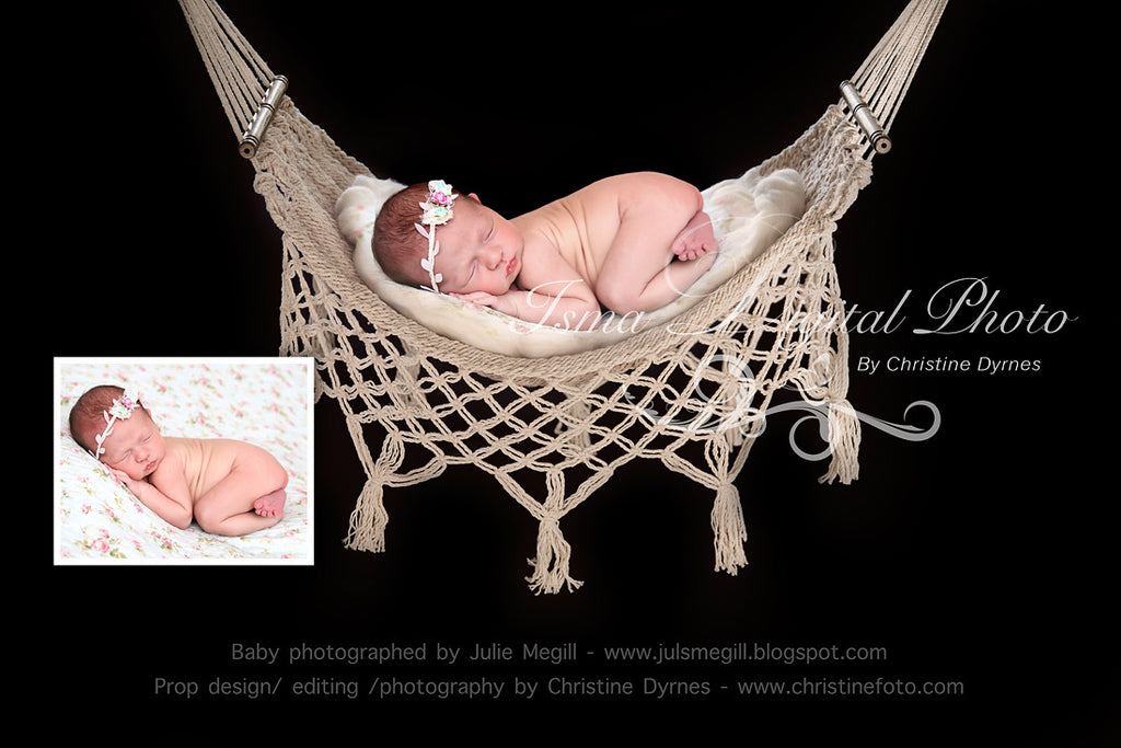 Hammock with black background beautiful digital background newborn photography prop download