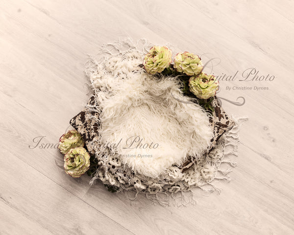 Handmade wooden bowl 2 - Digital backdrop /background - psd with layers