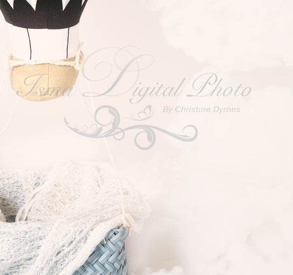 Air Balloon - Beautiful Digital background Newborn Photography Prop download