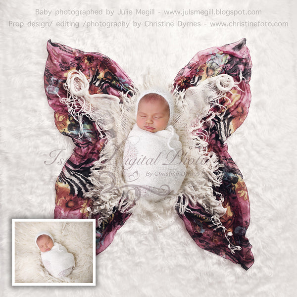 Butterfly baby - Digital backdrop /background
