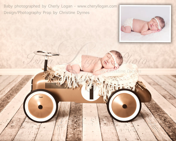 Toy Car Boy  - Beautiful Digital Backdrop Newborn Photography Props Download, Two files included