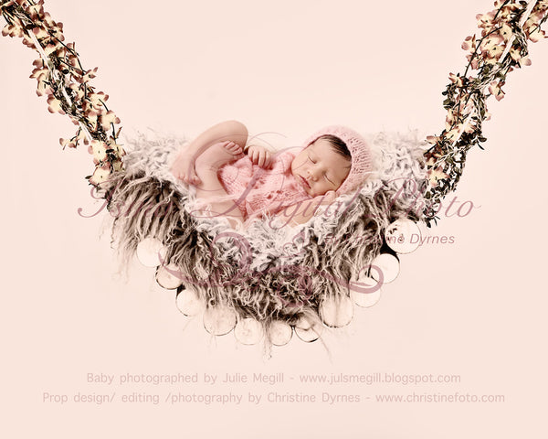 Wood hammock - Beautiful Digital background Newborn Photography Prop download