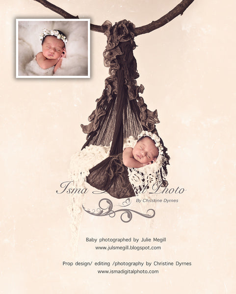 Baby Posing Swing 2 with Texture - Beautiful Digital background backdrop Newborn Photography Prop download