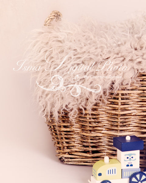 Basket and train with texture - Digital backdrop /background