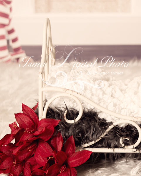 Christmas Background With Iron Bed 2 - Beautiful Digital background backdrop download