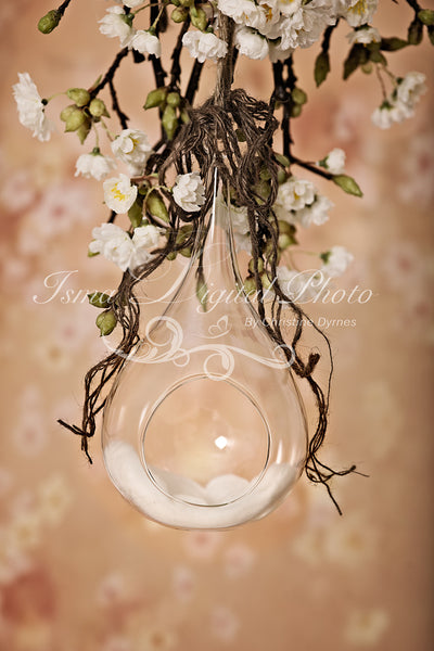 Glass Bowl With Flower Background - Beautiful Digital Newborn Photography Props download