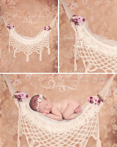Hammock with flower background - Digital backdrop /background