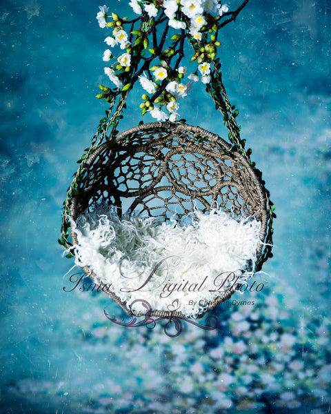 Hanging twine circles bowl - Digital backdrop /background