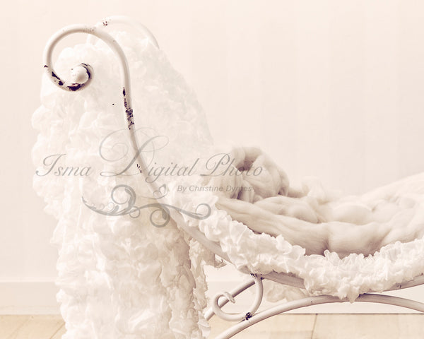 Iron Bed Chair - Beautiful Digital background backdrops Newborn Photography Props download