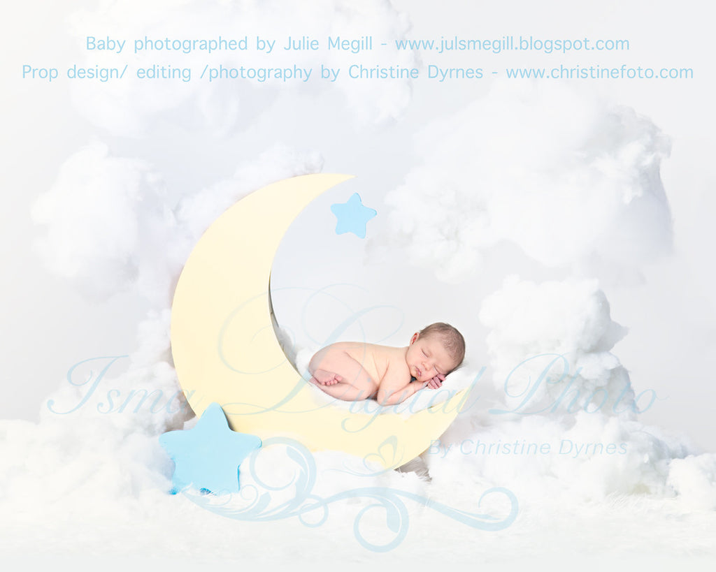 Moon With Clouds Beautiful Digital Background Newborn Photography Props Download Isma Digital Pphoto