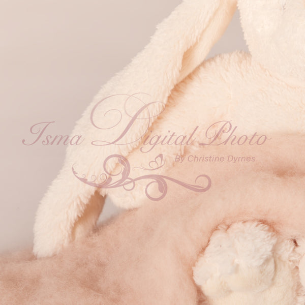 Soft Cuddly Rabbit With Wool - Beautiful Digital background Newborn Photography Prop download