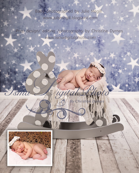 Rocking Horse With Star - Beautiful Digital background Newborn Photography Prop download