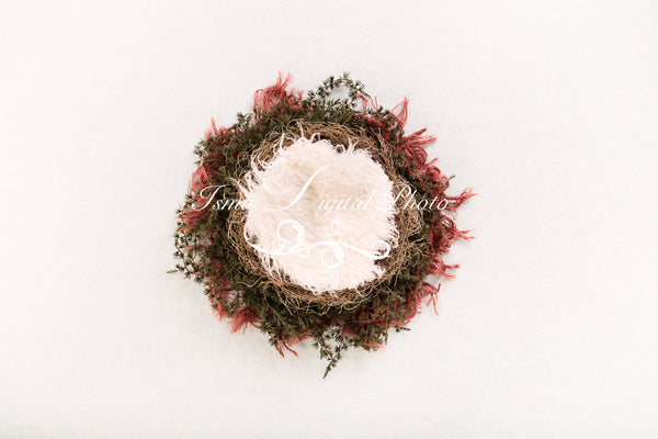 Newborn Christmas nest 7 - Digital backdrop /background - psd with layers