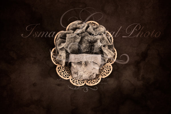 Newborn felted wool bed 6 - Digital backdrop /background - psd with layers