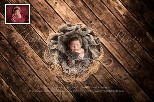 Newborn felted wool bed 7 - Digital backdrop /background - psd with layers