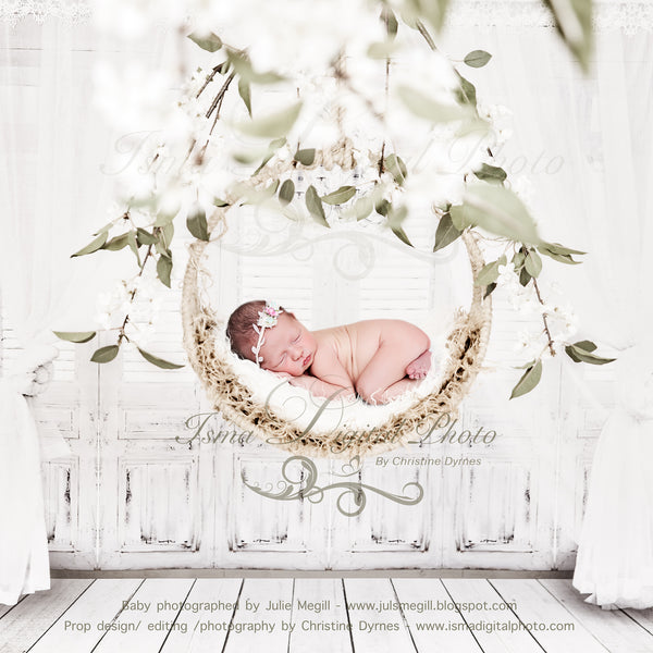 Newborn Hanging Circle Design - Digital backdrop - psd with layers