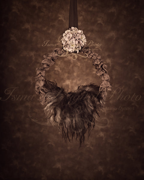 Newborn Hanging Circle Design - Digital Photography Backdrop /Props for Newborn Photography - psd with Layers