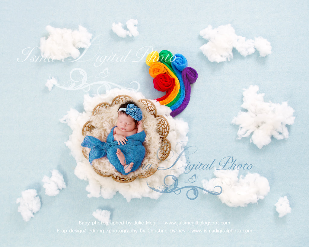 Rainbow Baby Digital Backdrop Background Psd With Layers Isma