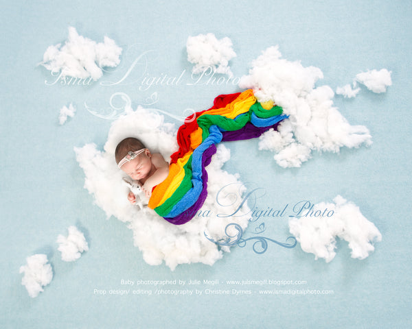 Rainbow baby - Digital backdrop /background - psd with layers