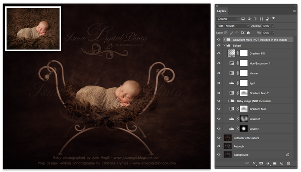 Iron bed chair with dark background - Digital backdrop /background - psd with layers