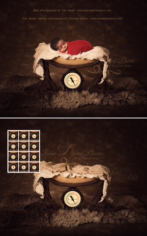Weight With Dark Background - Beautiful Digital background Newborn Photography Prop download - psd with Layers