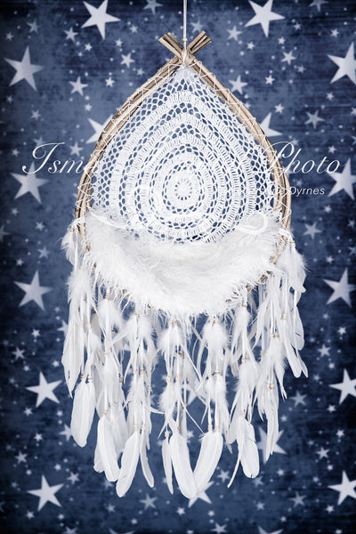 Wooden dream catcher - Digital backdrop /background - psd with layers