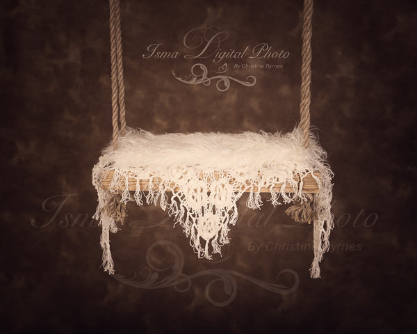 Wooden swing - Digital backdrop /background - psd with layers