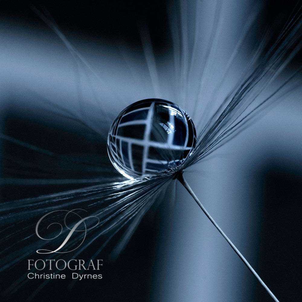 Artistic water drop - Blue Drop - Limited edition of  10 copies