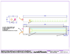 technical draing of mountable Ultraviolet (UV) sterilizer